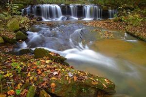 North Carolina cascade på hösten foto