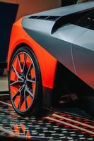 detalj av BMW däck foto