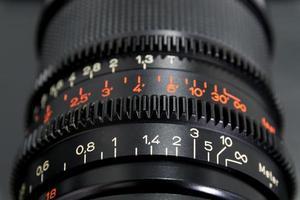 närbild av en kameralins