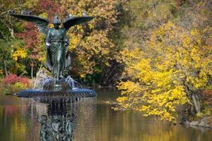 New York City, 2020 - Bethesda terrass och fontän