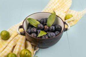 matfotografering platt låg med frukt med kopieringsutrymme