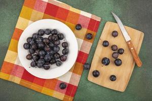 matfotografering platt låg med frukt