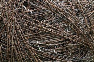 rulle av taggtråd närbild foto