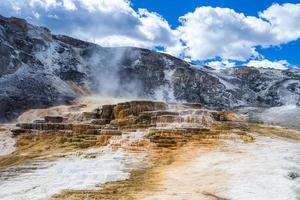 mammutiska varma källor, Yellowstone National Park, Wyoming, USA foto