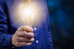 kreativt idékoncept med glödlampa foto