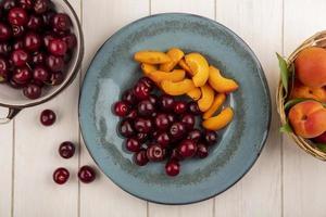 diverse mitten av höstens fruktbakgrund foto