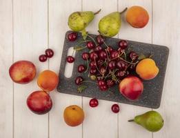 diverse mitten av höstens fruktbakgrund