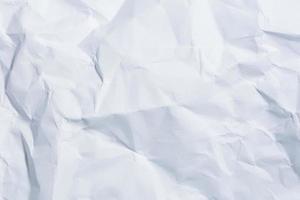 vit skrynkligt papper bakgrund foto