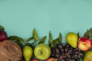 ovanifrån av mönster av frukter