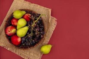 ovanifrån av färsk frukt