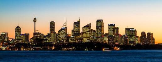sydney, australien, 2020 - stadsbild vid solnedgången
