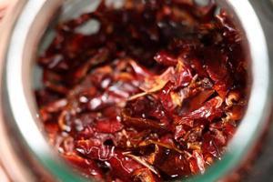 närbild av röda kryddor