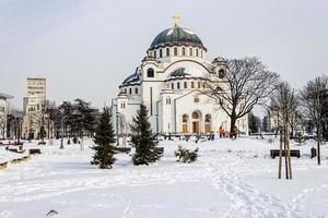 katedralen i helgonet sava foto