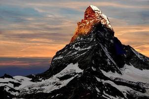 matterhorn - schweiziska alperna foto