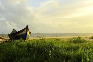barco num manto de erva foto