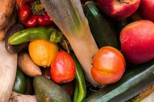 ovanifrån av grönsaker