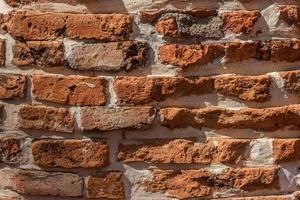 brun tegelvägg foto