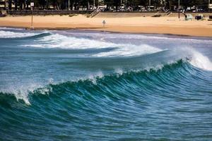 manly beach, australien, 2020 - vågor nära stranden under dagen