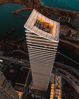 Flygfoto över en skyskrapa i Toronto, Kanada