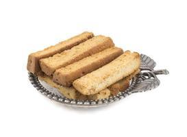 franska toastpinnar på en dekorativ tallrik