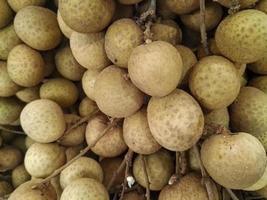 närbild av longan frukt
