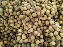 grupp tropisk longanfrukt