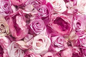 mjukt fokus tyg blommor foto