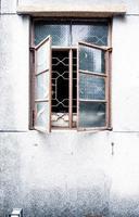 gamla vintage fönster foto