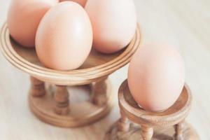 närbild av ägg