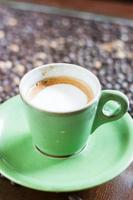 kaffekopp med mikroskum