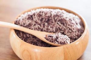 närbild av ris i en skål
