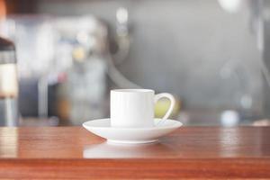 kaffekopp med ånga foto