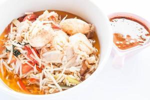närbild av en skål soppa