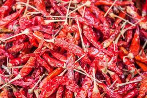 torkade röda paprika