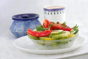 färsk grön veggiesallad