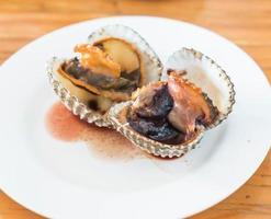 ångade blancherade musslor