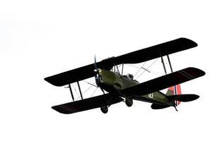 grönt och svart propellerplan