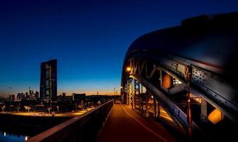 stadsbild på natten
