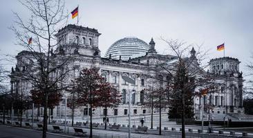 riksdagsbyggnad i Berlin, Tyskland foto