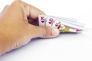 kort i en hand