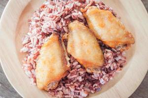 kycklingvingar i ris
