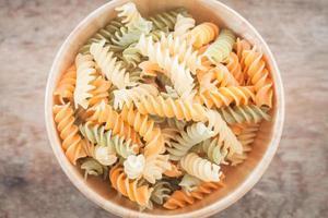 närbild av pasta