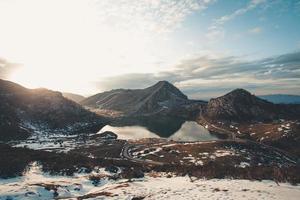 anlagda skott av bergen foto