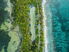 Flygfoto över Maldiverna