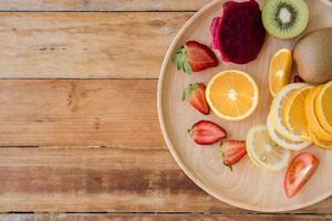 färsk frukt och grönsaker foto