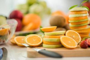 olika färsk frukt foto