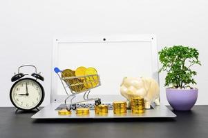 begreppet ekonomisk tillväxt med mynt