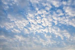 blå himmel med vita moln
