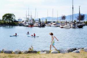 Heritage Harbor, Vancouver på sommaren foto