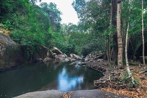 landskap i khao chamao vattenfall nationalpark foto